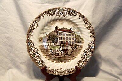 "Heritage Hall ""Georgian Town House"" Ironstone Dinner Plate ~ Brown Multi-Color"