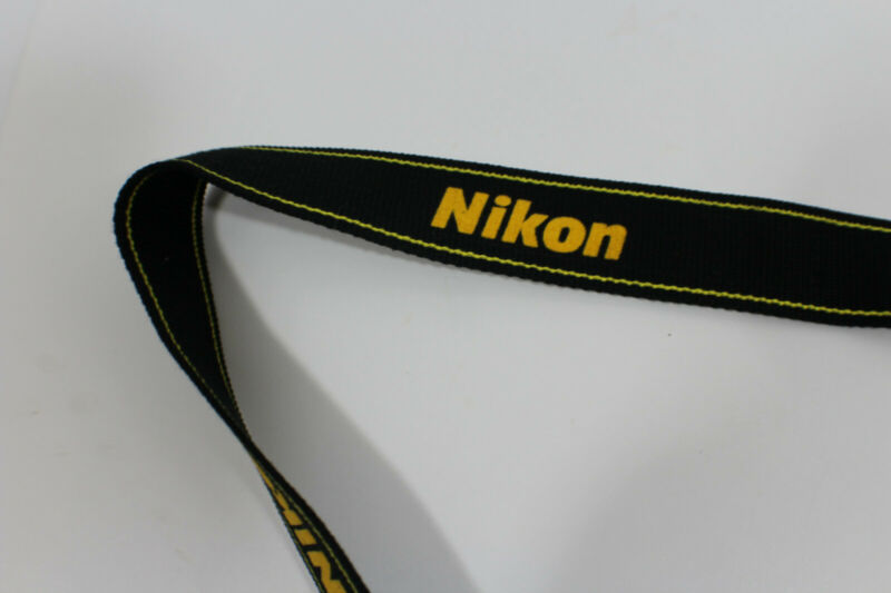 Genuine NIKON CAMERA NECK STRAP Black / Yellow  for DSLR / SLR
