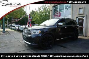 2012 Dodge Durango AWD v8 5.7Litres  CITADEL CUIR TOIT NAV TV/DV