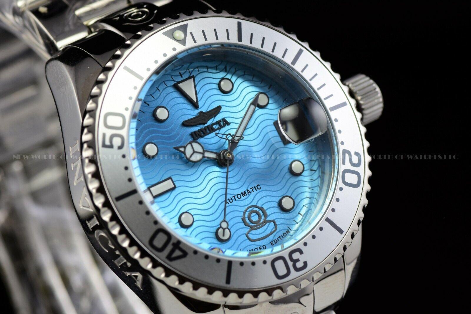 Invicta 38mm Grand Diver Ocean Voyage Limited Ed Aqua Blue 3