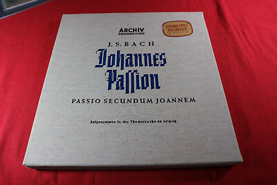 J.S. Bach  JOHANNES PASSION - Günther Ramin Archiv 3 LP-Box - 1963 near mint