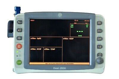 General Electric Ge Dash 2500 Bedside Patient Vital Signs Monitor Color Display