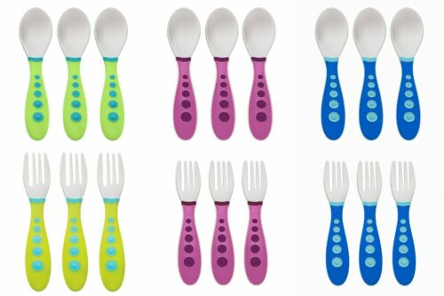 Gerber Toddler Cutlery Spoons Forks 18+ Months BPA Free Choose a Color