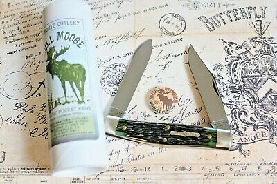 Great Eastern Cutlery USA Tidioute Moose Green Jigged Bone Bull Moose 811217 MIT