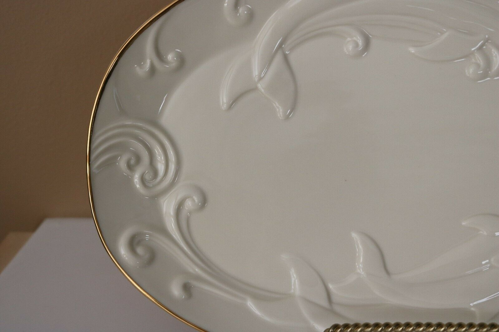 Lenox Rare Limited Edition Ivory China Dolphin Waveswept Platter NIB with COA