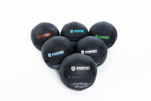 POWERT Soft Medicine Wall Ball for Core Muscle Workout 8/10/12/16/18/20LBS