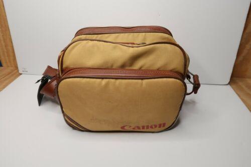 Vintage Canon Canvas Camera Bag With Strap