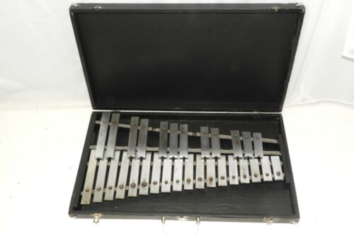 "Deagan #1560 Orchestra Concert Bells Glockenspiel G-C 1 1/4"" Wide Bars with Case"
