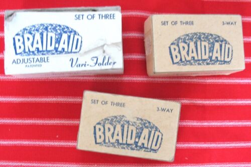 BRAID AID Fabric Rug Folders 1 Vari 2 miscellaneous RUG MAKING TOOLS instruction