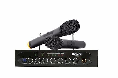 UHF Wireless Microphone System 2 Handheld Mic Bluetooth