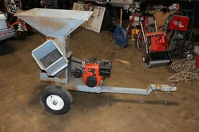 Tow Behind Wood Chipper Shredder With Nice 10 Hp Tecumseh Engine