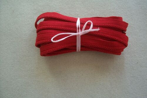 Vintage Ruby Red Piping Flat Braid with Lip Cord Dolls Sewing Millinery 4.5 YDS