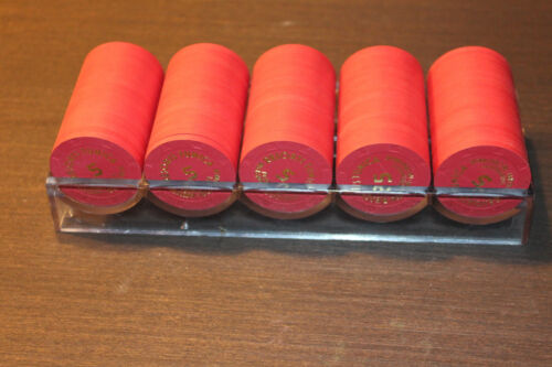 Resorts Tunica Top Hat & Cane Paulson Tournament Chips Closed Lot of 100 $5