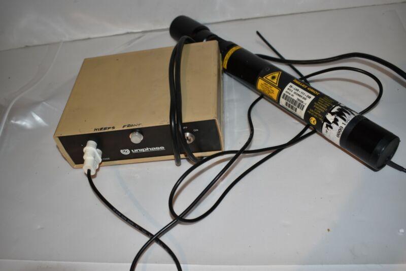 ^^ UNIPHASE LASER POWER SUPPLY 1201-1 W/ 25-LHR-111-249 LASER (EX8)