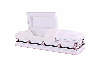 Brand New Caskets For Burial -  Optima White