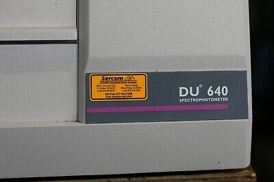 Beckman Coulter Spectrophotometer Du 640