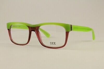 Authentic See Eyewear Glasses 1421 C341 Green Pink 53mm Frames Eyeglasses (Pink Eye Glasses)