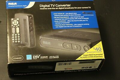 RCA Digital TV Converter Box DTA800B1 with Remote for sale  Raleigh