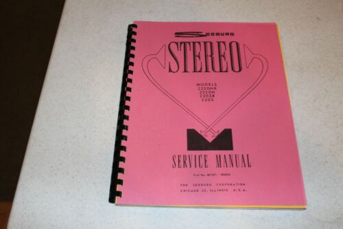 Seeburg - Models 222DHR, 222DH, 220SR & 220S Service Manual  - used