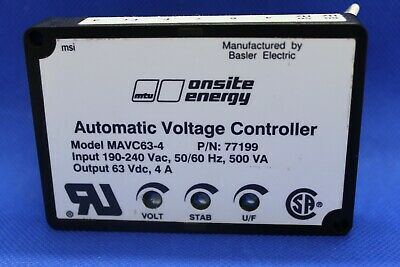 New Basler Automatic Voltage Regulator Oem Genuine Mavc63-4 Input 190-240vac 4a