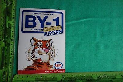 Alter Aufkleber ANTENNE BAYERN und ESSO Gewinnspiel 1996