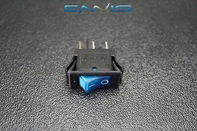Rocker Switch On Off Mini Toggle Blue Led 12v 16 Amp Mount Hole Ec-1220bl