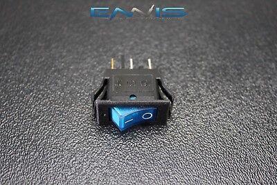 Rocker Switch On Off Mini Toggle Blue Led 12v 16 Amp Mount Hole Ec-1220bl