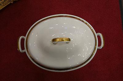Suppenschüssel,weiß,gold,1890,Deckel,..