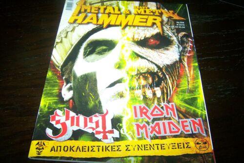 GREEK METAL HAMMER MAGAZINE 9 / 2015 GHOST IRON MAIDEN