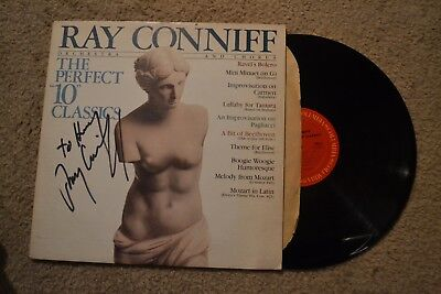 """Ray Connie Perfect """"10"""" Signed Autograph Promo Rock Record LP VG+"""