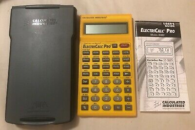 Calculated Industries Construction Master Electricalc Pro 5060 Armadillo Case
