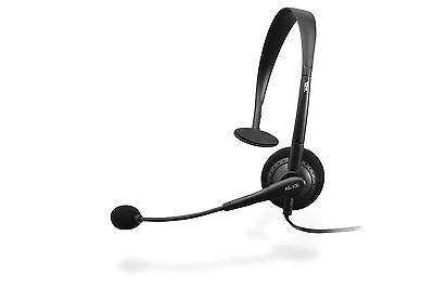 NEW Cyber Acoustics 100 Black Headband Headsets Over-the-head w/ microphone mic  Cyber Acoustics Black Headset