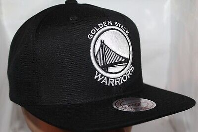 buy online e8797 6ec23 Golden State Warriors Mitchell   Ness NBA Black White Hi Crown Snapback,Hat ,Ca