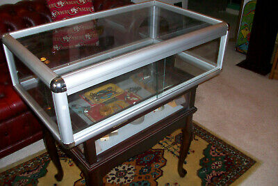 Metal And Glass Counter Display Case......aluminum