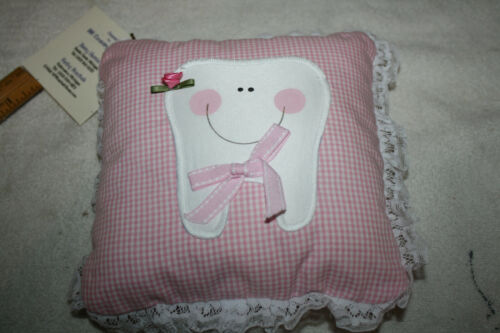 Tooth Fairy Pillow with pocket underneath tooth.  Girls Pink Cute!  NWT