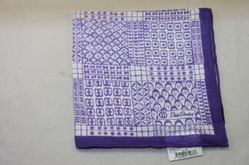 David Donahue Purple Geometric print Pocket Square $60