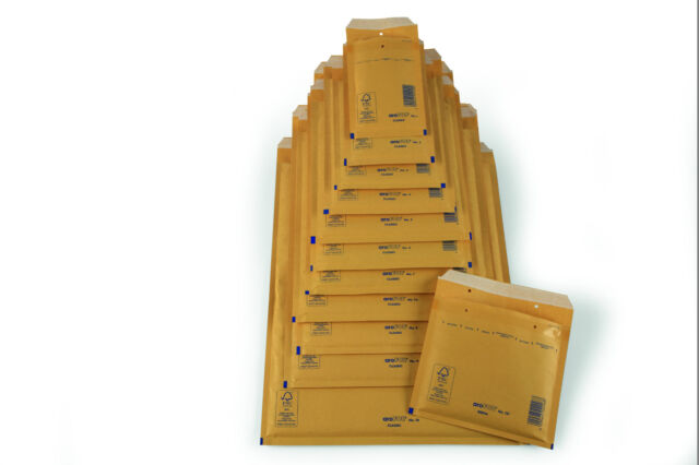 AroFOL Gold Brown Bubble Padded Mailers Envelopes Bags