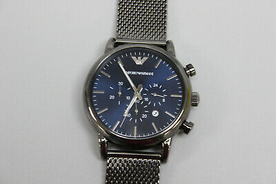 Emporio Armani AR-1979 Men's Gunmetal Sport Chronograph Mesh Band Watch