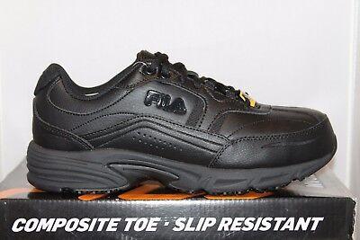 Mens Fila Memory Foam Workshift COMPOSITE TOE Slip Resistant Work Shoes -
