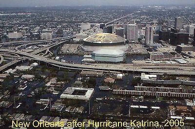 New Orleans after Hurricane Katrina 2005, Louisiana Superdome -- Modern Postcard