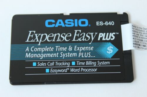 Vintage Casio ES-640 Expense Easy Plus Business Organizer Memory Expansion Card