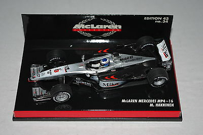 Hot Wheels 1//43 F1 McLaren Mercedes MP4 16 Hakkinen