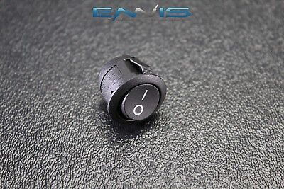 Round Rocker Switch 34 On Off 6.5a 250v 13a 125v 2 Pin Toggle Ibrrs