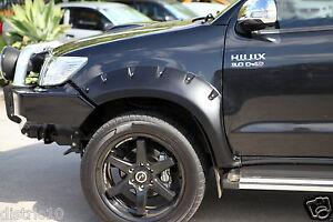 HILUX TOYOTA 2011-2015 FRONT TOUGH PLASTIC JUNGLE FLARES GUARD DUAL CAB SR5 UTE