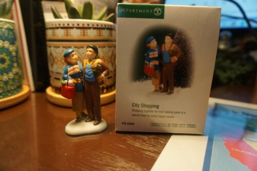 """Department 56 Christmas in The City """"City Shopping"""""""