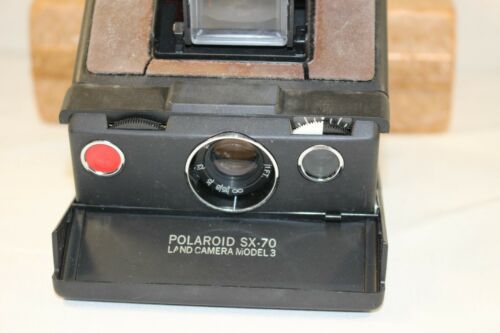 Polaroid SX-70 Instant Film Land Camera Model 3 with styrofoam case