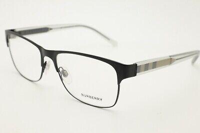 New Burberry B 1289 Men's Eyeglasses 1007 Black Large (Large Spectacles)