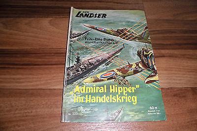 LANDSER # 111 -- >ADMIRAL HIPPER< im HANDELSKRIEG // Original-Druck 1960er
