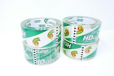 Duck HD Clear Heavy Duty Packing Tape Refill, 4 Rolls, 1.88 Inch x 54.6 Yard