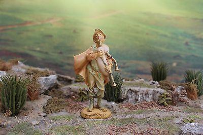 "5"" Fontanini Italian Nativity Villager MUSICIAN JOSIAH - Depose Italy 1983"